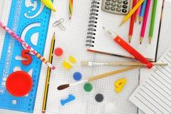 Coisas da escola Imagens de Stock