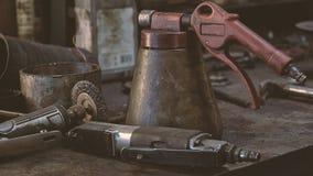 Coisas da oficina do ` s do mecânico Foto de Stock Royalty Free