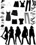 Coisas das mulheres ilustração royalty free