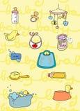 Coisas do bebê Fotografia de Stock Royalty Free