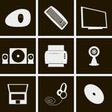 Coisas do computador dos ícones Foto de Stock