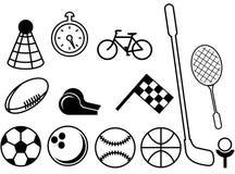 Coisas do esporte ilustração do vetor