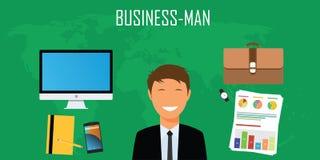 Coisas e material do homem de negócios Imagem de Stock Royalty Free