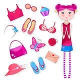 Coisas Girlish Fotos de Stock Royalty Free