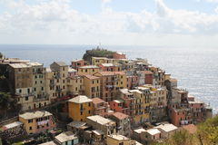 Coisy village Riomaggiore Ligurian | Cinque Terre. One of the 5 Coisy cities of Cinque Terre (Riomaggiore) Ligurian. At the Mediterranean sea Royalty Free Stock Photo