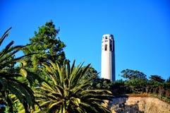 Coit塔在旧金山,加利福尼亚 库存照片