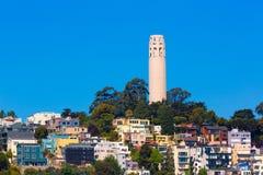 Coit塔旧金山加利福尼亚 免版税库存照片