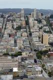 在旧金山的看法从Coit塔 免版税库存图片