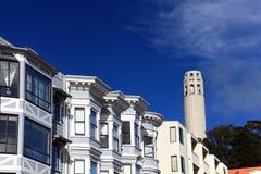 Coit Kontrollturm, San Francisco Stockbild