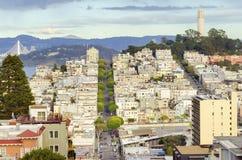 Coit Kontrollturm, San Francisco Lizenzfreie Stockfotos