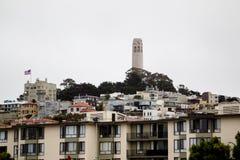 Coit Kontrollturm, San Francisco Lizenzfreies Stockfoto