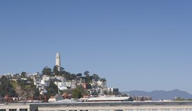 Coit Tower. Looks over San Francisco Bay Royalty Free Stock Image