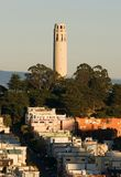 Coit Tower At Sunset Stock Image