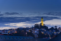 Coit Tower at dusk Royalty Free Stock Photography