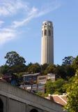 Coit Tower Hillside Neighborhood San Francisco California Stock Image