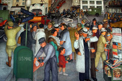 Coit Tower murals Royalty Free Stock Photo