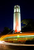Coit Tower at night Stock Photo
