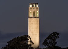 Coit Tower at Night Stock Photos