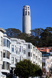 Coit Tower Row Houses San Francisco California Royalty Free Stock Image