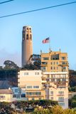 Coit Tower in San Francisco.  Stock Image