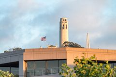 Coit Tower in San Francisco Stock Photos