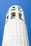 Coit Tower in San Francisco. A detailed view of Coit Tower in San Francisco Royalty Free Stock Photos
