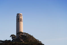 Coit Tower in San Francisco. At sunset Stock Photography