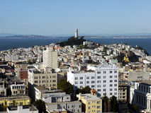 Coit Tower and San Francisco Royalty Free Stock Photography