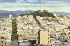 Coit Tower, San Francisco. Coit Tower, aka the Lillian Coit Memorial Tower on Telegraph Hill neighborhood of San Francisco, California, United States of America Royalty Free Stock Image