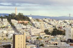 Coit Tower, San Francisco. Coit Tower, aka the Lillian Coit Memorial Tower on Telegraph Hill neighborhood of San Francisco, California, United States of America Stock Images
