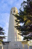 Coit Tower, San Francisco. Coit Tower, aka the Lillian Coit Memorial Tower on Telegraph Hill neighborhood of San Francisco, California, United States of America Royalty Free Stock Photography
