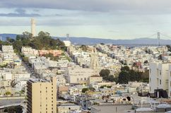 Coit Tower, San Francisco. Coit Tower, aka the Lillian Coit Memorial Tower on Telegraph Hill neighborhood of San Francisco, California, United States of America Stock Photo