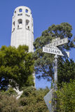 Coit Tower in San Francisco. Coit Tower, also known as the Lillian Coit Memorial Tower in the Telegraph Hill neighborhood of San Francisco, California Stock Image