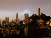 Coit Tower San Francisco, CA USA Stock Images