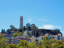 Coit Tower in San Francisco Royalty Free Stock Photos