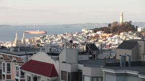 Coit Tower San Francisco Timelapse Royalty Free Stock Images