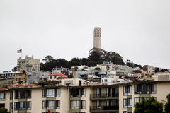 Coit Tower, San Francisco. View on the Coit Tower on Telegraph Hill in San Francisco, California, USA Royalty Free Stock Photo