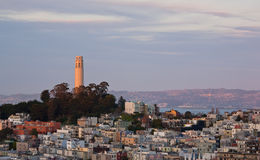 Coit Tower at Sunset Stock Images