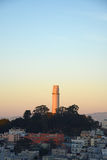 Coit tower during sunset Royalty Free Stock Images