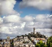 Coit tower in Telegraph Hill Royalty Free Stock Photography