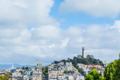 Coit Tower in Telegraph Hill Stock Images