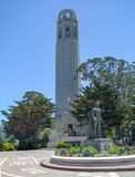 Coit Tower at Telegraph Hill. The Coit Tower at Telegraph Hill in San Francisco Royalty Free Stock Photo