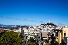 Coit Tower and Telegraph Hill Stock Photo
