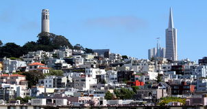 San Francisco Coit Tower. Coit Tower up on the hill in San Francisco, California royalty free stock photography