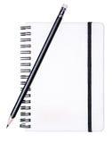 Cojín de escritura con un lápiz Fotografía de archivo