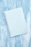 Cojín de escritura del cuaderno Imagen de archivo libre de regalías