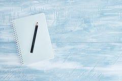Cojín de escritura del cuaderno Imagenes de archivo