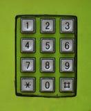 Cojín del número de teléfono Imagen de archivo