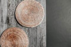 Cojín hecho a mano contemporáneo del jacinto de agua secado fotografía de archivo libre de regalías
