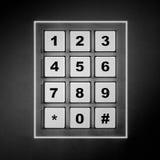 Cojín numérico blanco de la seguridad Fotos de archivo